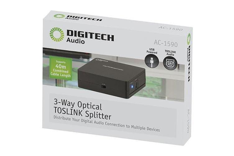 Digitech Digitech TOSLINK 3-Way Digital Optical Audio Splitter