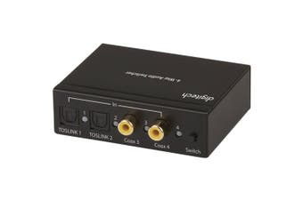 Digitech 4-way Digital Audio Switch (CoAxial/Optical/RCA Converter)
