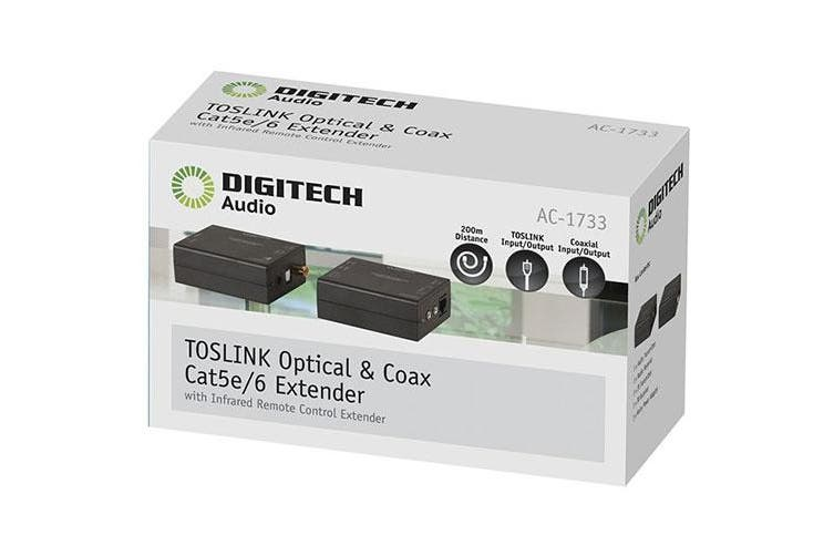 Digitech Toslink Optical Audio Cable Extender/Repeater with IR