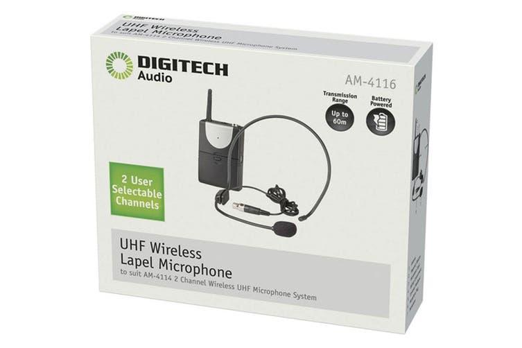 Digitech Channel-A UHF Headset Mic & Transmitter (suit AM4132 AM4114)