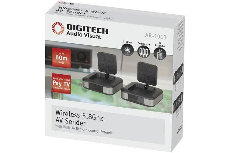 TechBrands W/less Wideband Audio Video Sender w/ Infrared IR Sender