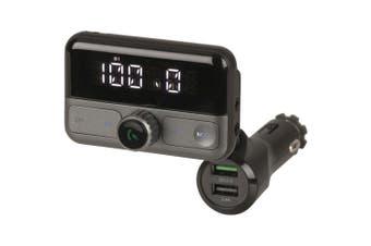 TechBrands FM Bluetooth H/Free Qc3.0 USB LCD FM Transmitter