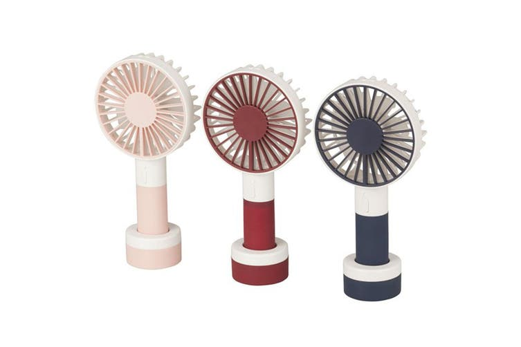 TechBrands Personal Rechargeable Portable Fan w/ 3 Speed and LED Light