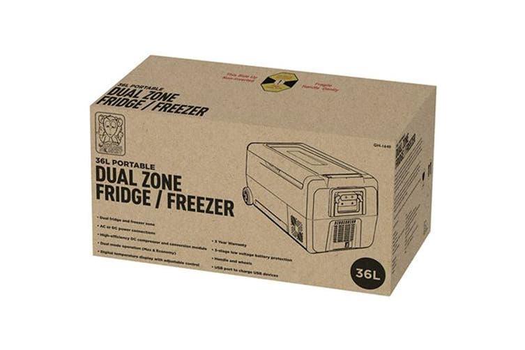 Brass Monkey Chest Portable Type Dual Zone Fridge Freezer (36L)