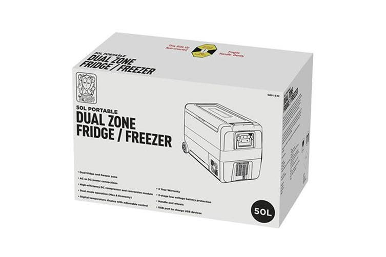 Brass Monkey Chest Portable Type Dual Zone Fridge Freezer (50L)