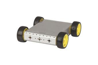 TechBrands 4 Wheel Drive Metal Chassis Robotics Car Kit