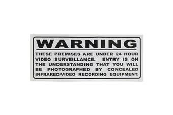 TechBrands Surveillance Warning Sticker - Large