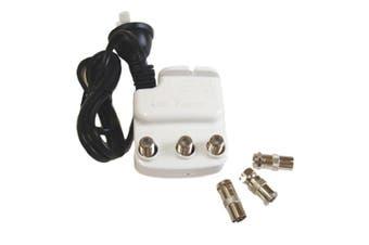 TechBrands Indoor TV Amplifier/Splitter (Co-Axial 12dB)