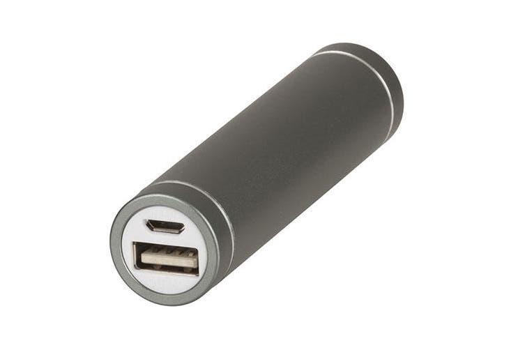 TechBrands Metallic Li-Ion Power Bank (2600mAh) - Silver