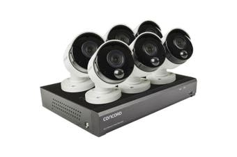 Concord 8 Channel 4K NVR Package 6x5MP Surveillance Camera System