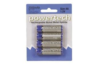 Powertech Powertech Battery Pack of 4 (1.2V AA 2000mAh Ni-MH)