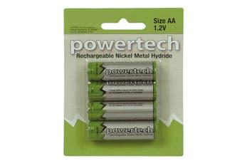 Powertech Powertech Battery Pack of 4 (1.2V AA Batteries 2500mAh)