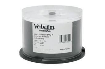 Verbatim 50 Pk 16x Verbatim DataLifePlus DVD-R 4.7GB White Printable