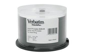 Verbatim 16x DVD+R 4.7GB Verbatim DataLifePlus Printable 50 Pk
