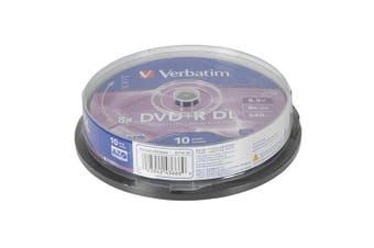 Verbatim Verbatim DVD+R DL 8.5GB 8x Write Speed (Pack of 10)
