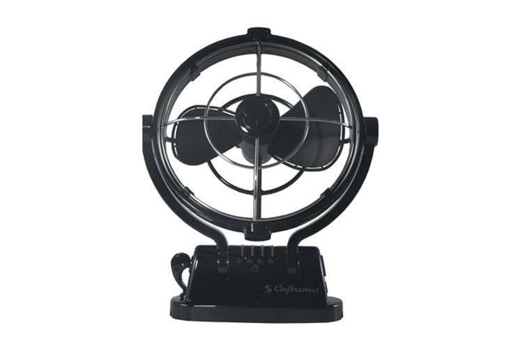 "Sirocco Sirocco Gimbal Fan 7"" 3-Speed (12-24VDC) - Black"