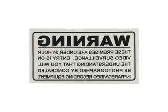 TechBrands Surveillance Warning Sticker - Inside