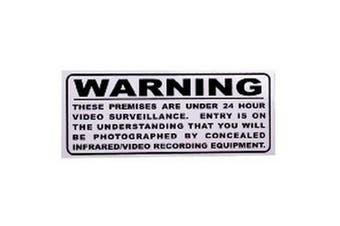 TechBrands Surveillance Warning Sticker - Outside