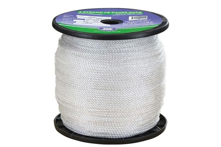 TechBrands Standard Silver White Rope 100m Roll - 10mm