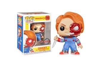Child's Play Chucky Half Battle Damaged US Excl Pop! Vinyl