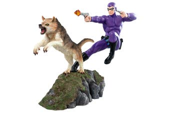 The Phantom and Devil Purple Suit Statue