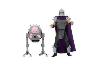 """TMNT Shredder vs Krang 7"""" Action Figure 2-Pk"""