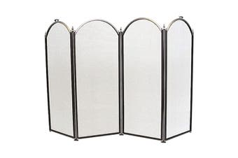 FireUp 4 Fold Black/Pewter Fire Screen 33cm Panels (77cm H)