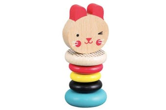 Petit Collage Modern Bubby Wood Rattle Toy