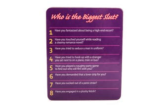 Who is the Biggest Slut? Drinking Game