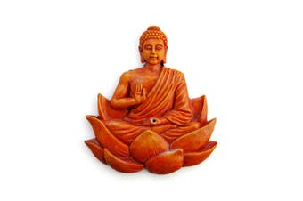 Orange Buddha Flat Incense Burner