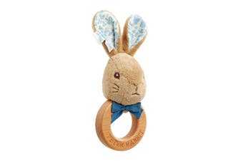 Beatrix Potter Peter Rabbit Signature Wooden Ring Rattle