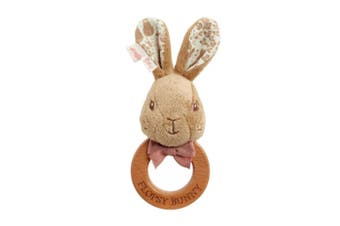 Beatrix Potter Flopsy Bunny Sig Collection Wood Ring Rattle