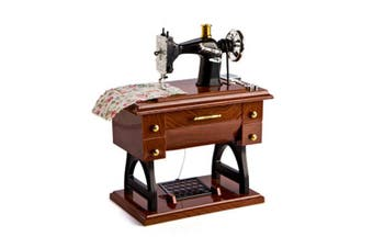 Animated Sewing Machine Musical Box
