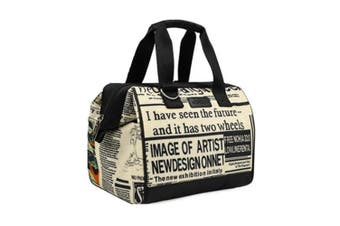 Sachi Designer Insulated Lunch Bag - Newspaper