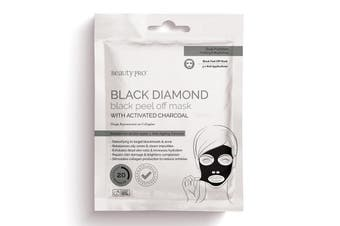 BeautyPro Black Diamond Peel Off Face Mask with Activated Charcoal (3x7g)