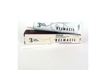 Belmacil Eyelash & Eyebrow Colour Tint - Lash, Brow Tinting #3 Dark Brown 20ml