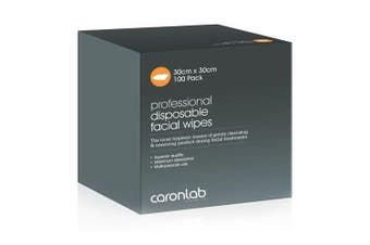 Caronlab Disposable Facial Wipes 100 Pack Fibrella Beauty Lint Free Cleanse
