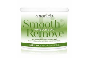 Caronlab Pure Olive Oil Hard Hot Wax Microwaveable 400g Waxing Hair Removal