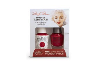 Gelish & Morgan Taylor Forever Fabulous Pack - A Kiss From Marilyn (15ml) UV/LED