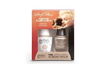 Gelish & Morgan Taylor Forever Fabulous Pack - She's A Natural (15ml) UV/LED