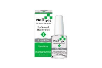 Nail Tek Foundation 1 - Ridge Filler for Normal, Healthy Nails (15ml)