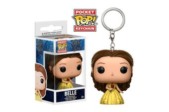 Funko Pocket Pop! Keychain: Beauty & the Beast - Belle with Rose