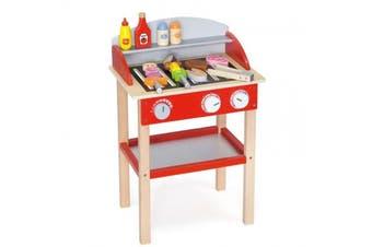 VIGA Wooden Pretend Play Toy - Kitchen Food Standing BBQ