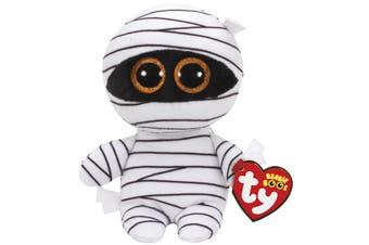"Ty Beanie Boos Regular 6"" - White Mummy Plush Halloween Exclusive"
