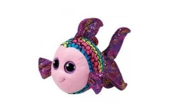 "Ty Beanie Boos Large - Flippy the Blue Fish 16"" Plush"