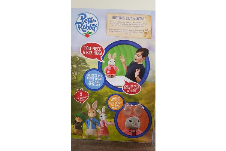 Peter Rabbit Hopping Lily Bobtail Plush Doll 40 cm