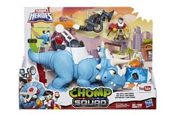 Playskool Heroes Chomp Squad Doc Tops Dino and Sam Scrubs