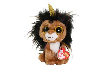 "TY Beanie Boos Regular 6"" Ramsey The Lion With Horn Plush"