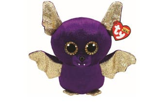 "TY Beanie Boos Regular 6"" Count The Purple Bat Halloween Plush"