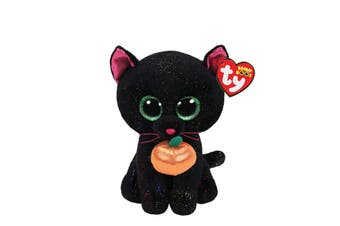 "TY Beanie Boos Regular 6"" Potion The Cat With Pumpkin Halloween Plush"